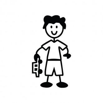 Bambino con macchinina - adesivi famiglia