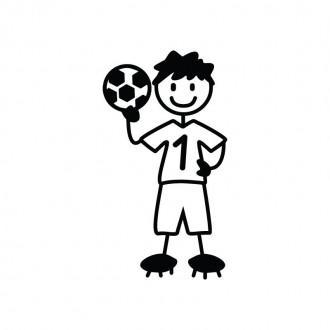 Ragazzo calciatore - adesivi famiglia