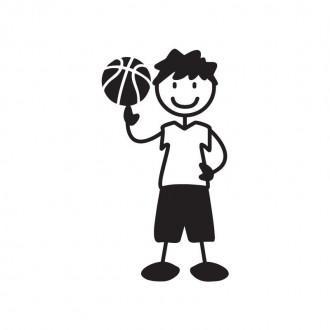 Ragazzo basket - adesivi famiglia