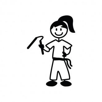 Ragazza karate - Famiglia adesiva