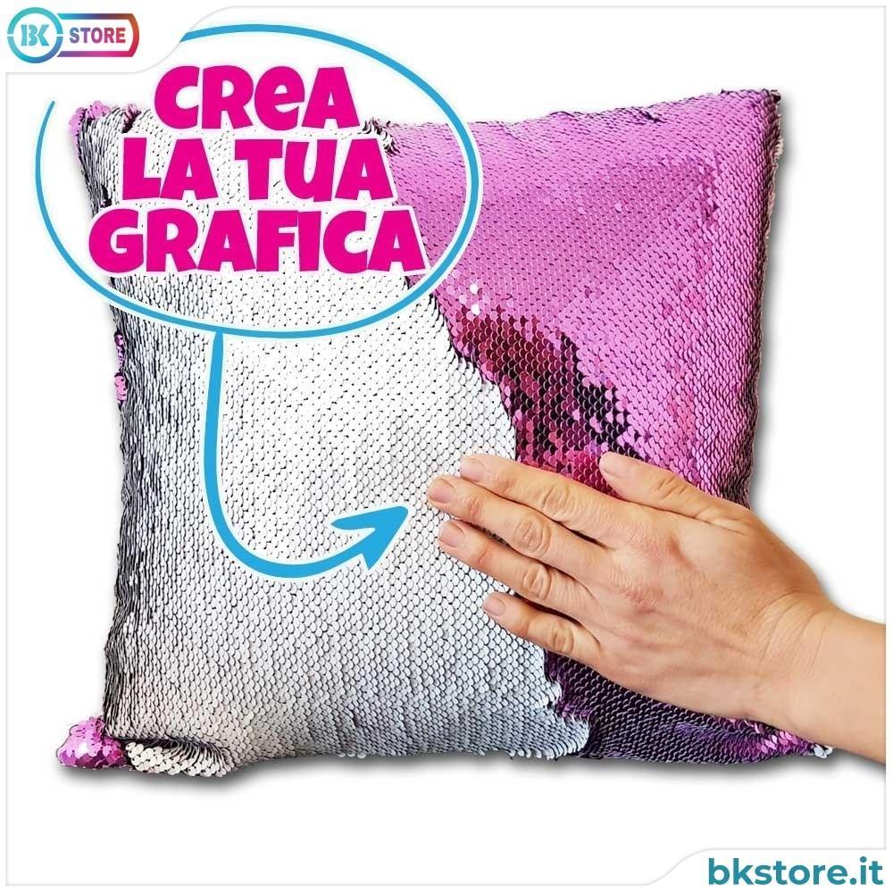 Cuscino Paillettes personalizzato Gira e Brilla