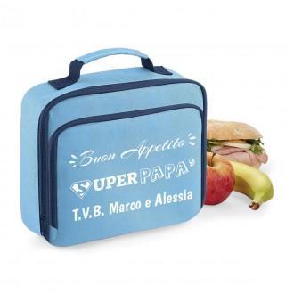 Borsa frigo lunch box personalizzata per il papà