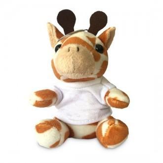Portachiavi peluche giraffa con foto o nome