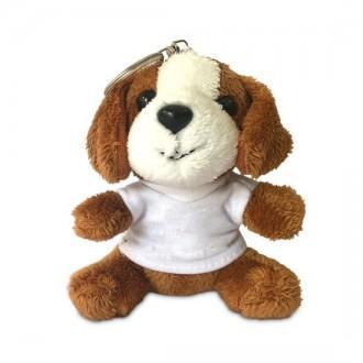 Portachiavi peluche cane personalizzato con foto o nome
