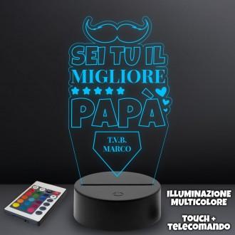 Lampada plexiglass per il papà personalizzata con nome