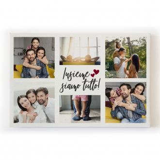 Quadro canvas stampa su tela con 6 foto