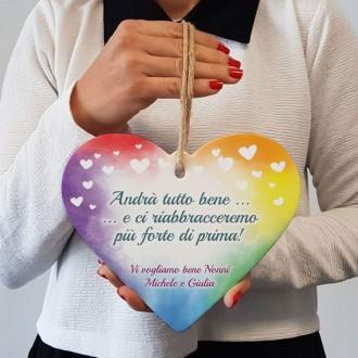 cuore arcobaleno andrà tutto bene