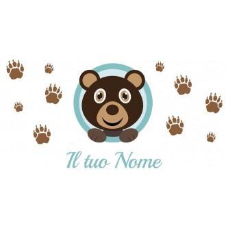 Borraccia da bambini con orsacchiotto e nome
