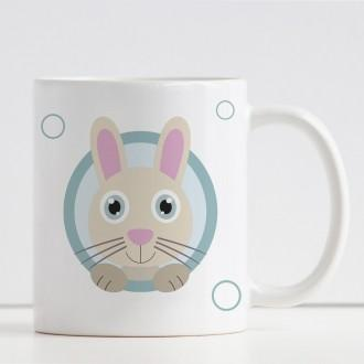 tazza personalizzata per bambini con  coniglio e nome