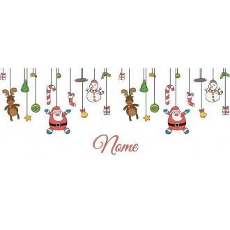 Tazza con disegno natalizio personalizzata con nome