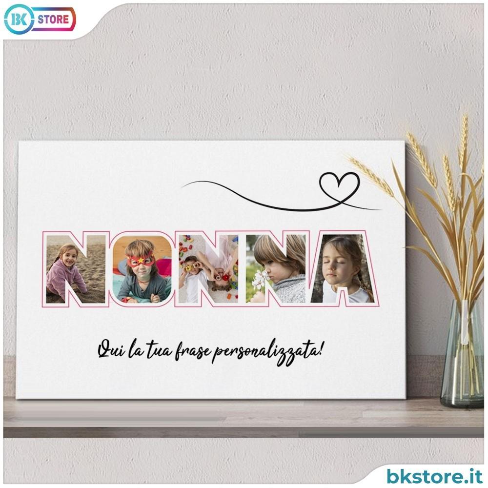 quadro nonna personalizzato con foto