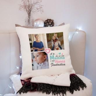 cuscino personalizzato per la nonna