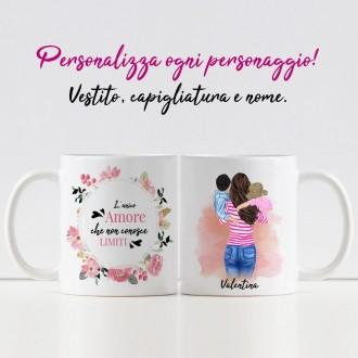 tazza mamma e due bambini
