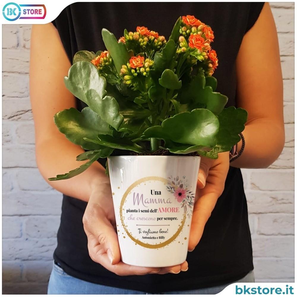 vaso fiori personalizzato per la mamma
