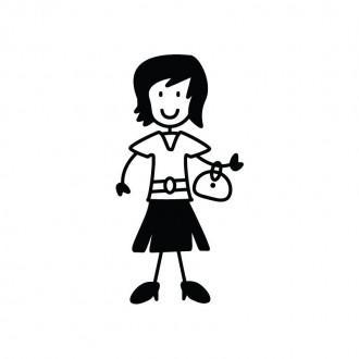 Mamma con borsa - Famiglia adesiva