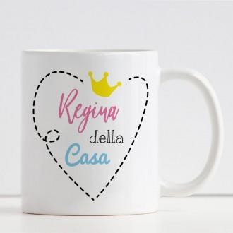 """tazza personalizzata mamma """"Regina della casa"""" e nome"""
