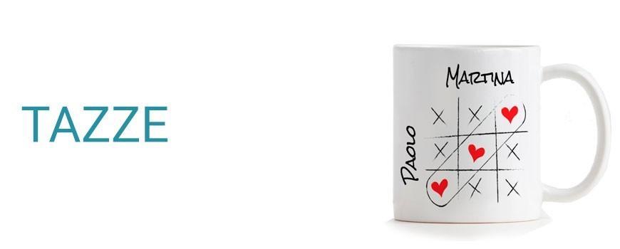 Tazze personalizzate con foto e nome, foto panoramiche, scritte e disegni