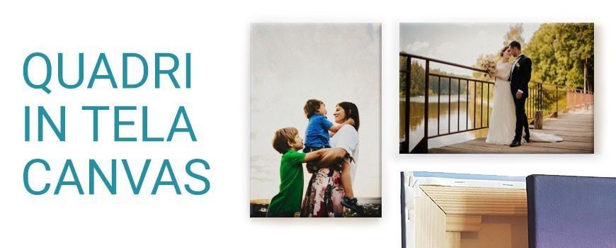 Quadri in tela canvas personalizzati con foto e/o testo